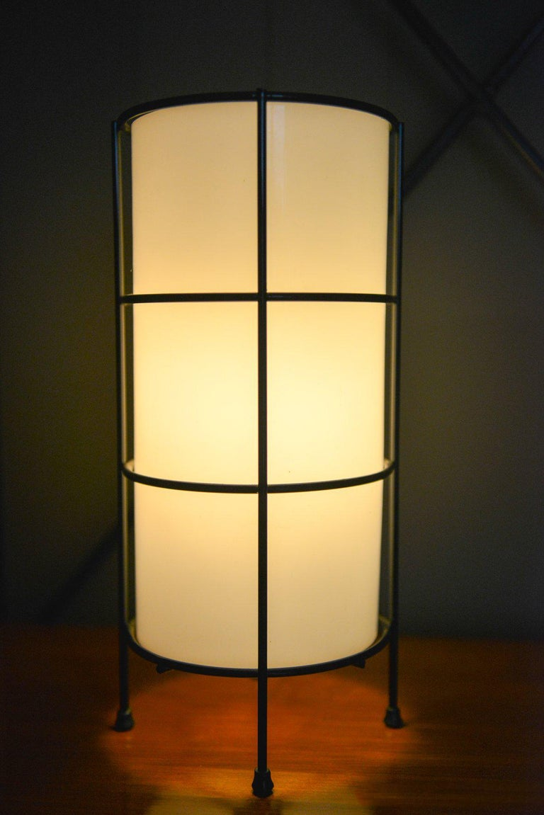 Late 20th Century Glass and Iron Case Study Lamp by Artemide For Sale