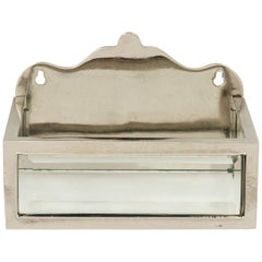 Glass and Nickel Tissue Box