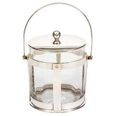 Glass and Silver Biscuit Barrel