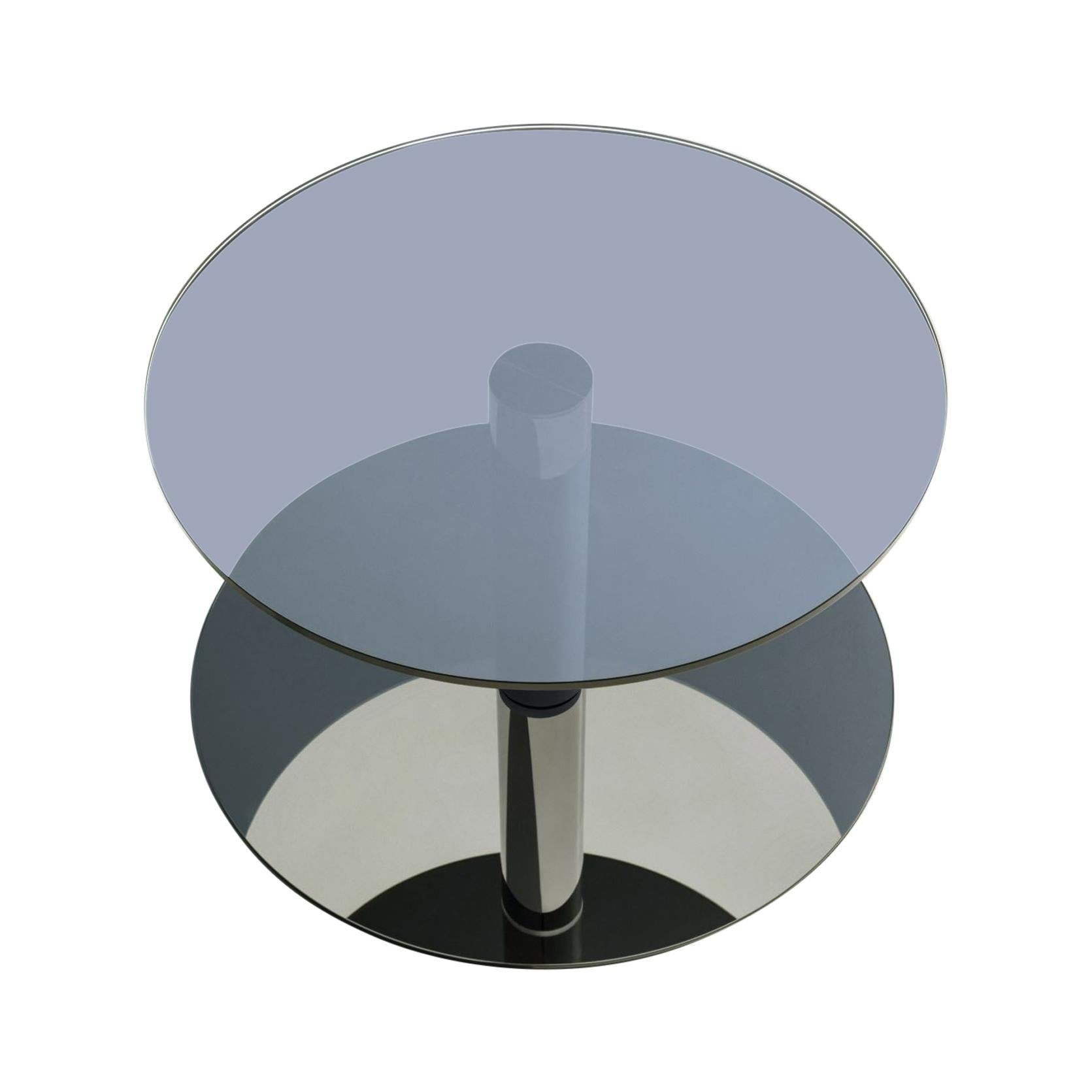 "Glass and Steel ""Dia"" Coffee Table, Sebastian Scherer"