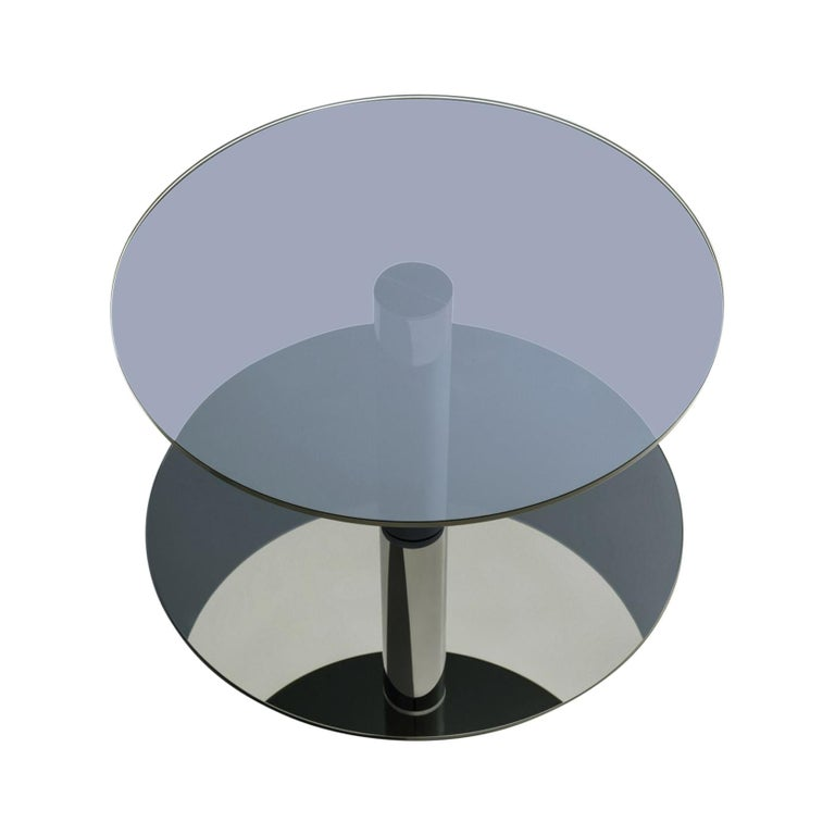 "Glass and Steel ""Dia"" Coffee Table, Sebastian Scherer For Sale"