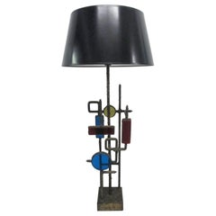 Glass and Steel Lamp by Svend Aage Holm Sorensen