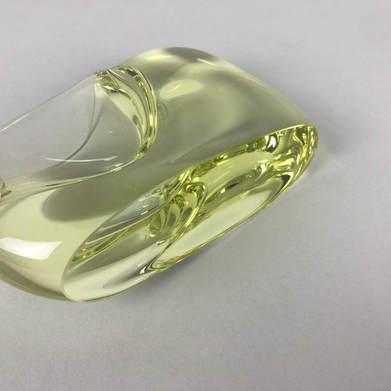 Mid-20th Century Glass Ashtray by Miloslav Klinger for Zelezny Brod Glassworks, 1960s For Sale