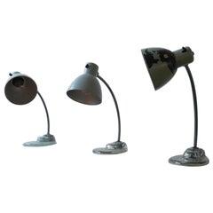 Glass Base Kandem Bauhaus Table Lamps
