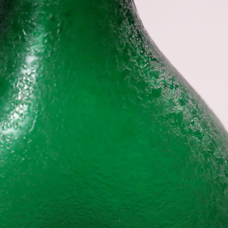 Italian Glass Bottle Murano Italy 1950s Seguso Manufacture For Sale