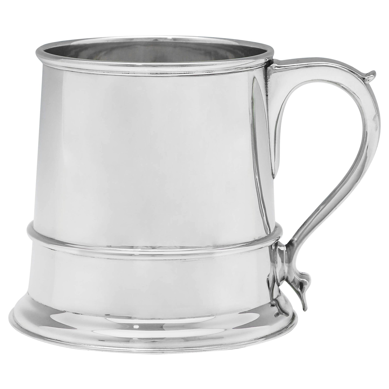 Glass Bottom Sterling Silver Mug or Tankard Hallmarked in London in 1942