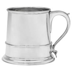 Glass Bottom Sterling Silver Mug or Tankard Hallmarked in London in 1942