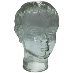 Glass Boy's Head 1980 Mannequin, Store Display