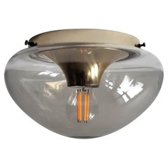 Glass Ceiling Lamp by Dijkstra Lamps, the Netherlands, 1960s-1970s