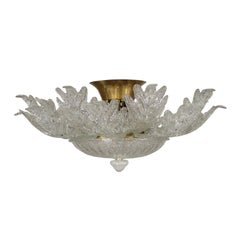 Glass Chandelier Barovier & Toso Vintage, Italy, 1970s