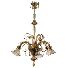 Glass Chandelier from Murano, Italy, 20th Century