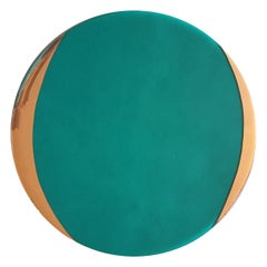 Glass Charger with Gold Rim Green