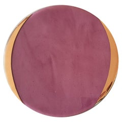 Glass Charger with Gold Rim Purple