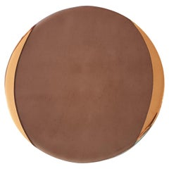 Glass Charger with Gold Rim Taupe