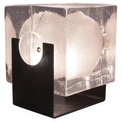 Glass Cubosfera Table Lamp by Uno Westerberg for Pukeberg, Sweden, 1960s