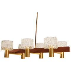 Glass Cylinders Chandelier by Carl Fagerlund for Orrefors