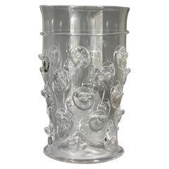 Glass Design Vase, Ice Container, Bohemian Glass 'video'