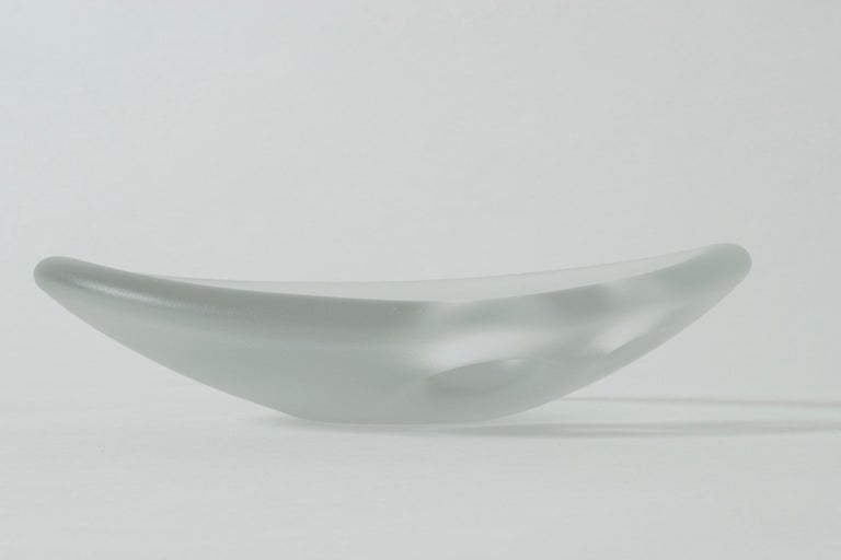 """Finnish Glass """"Devil's Cradle"""" Bowl by Timo Sarpaneva for Iittala For Sale"""