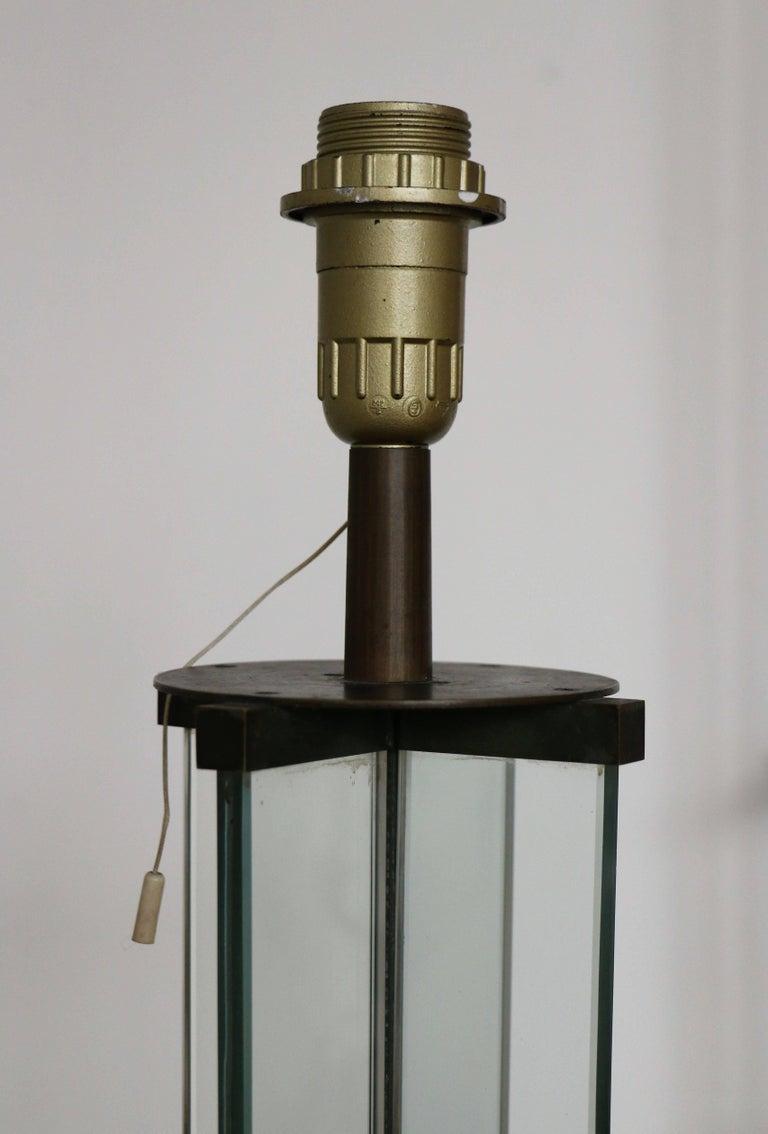 Glass Floor Lamp by Jacques Adnet, Art Déco, 1930s, France ...