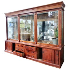 Glass Front Mercantile Display Case, circa 1900