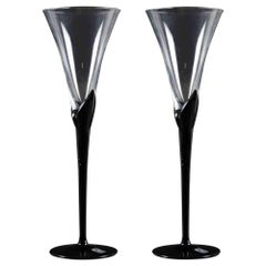 Glass Goblets by Christinenhutte, Germany, Half of 20th Century