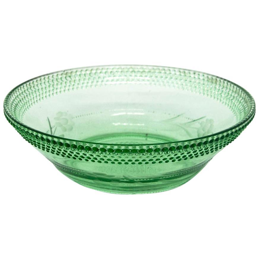 Glass Green Bowl