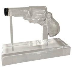 Glass Gun on Custom Acrylic Stand