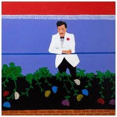 'Glass Half Empty' Portrait Painting by Alan Fears Pop Art