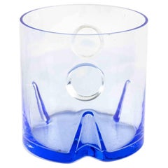 Glass Ice Bucket, Original Decorative Object, 1970s