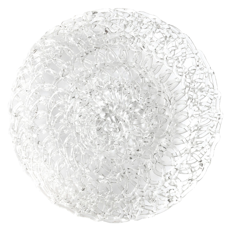 Glass Lace Fruit Bowl, Medium