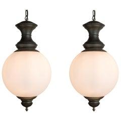 Glass Lantern by Luigi Caccia Dominioni for Azucena