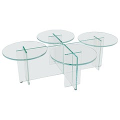 "Glass ""Marshmallow"" Coffee Table, Giorgio Bonaguro"