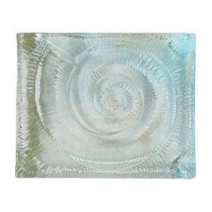 Glass Nautilus Seashell Dish