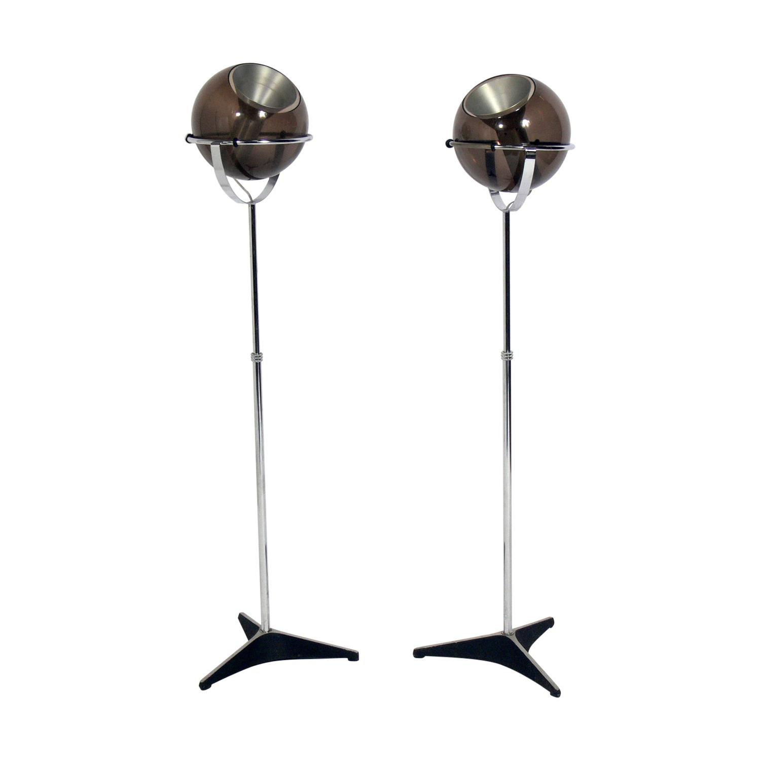 Glass Orb Floor Lamps by Frank Ligtelijn for RAAK