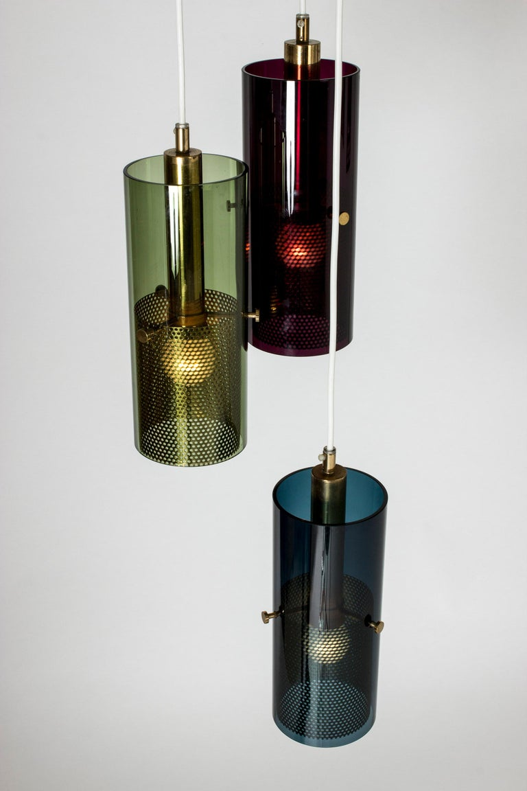 Scandinavian Modern Glass Pendant Lamp by Hans-Agne Jakobsson For Sale