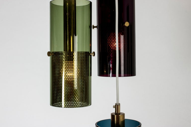 Swedish Glass Pendant Lamp by Hans-Agne Jakobsson For Sale