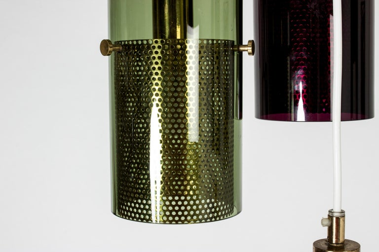 Glass Pendant Lamp by Hans-Agne Jakobsson In Good Condition For Sale In Stockholm, SE