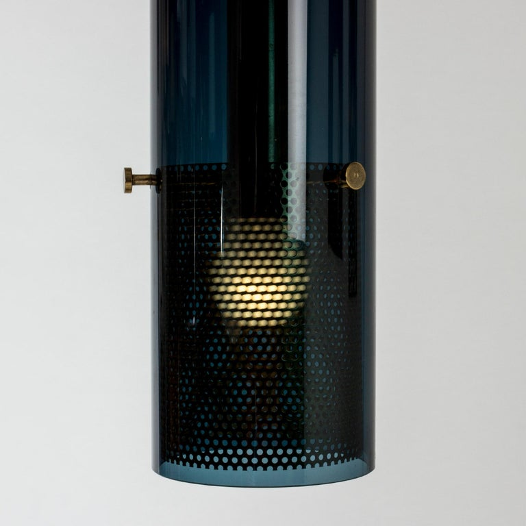 1960s Glass Pendant Lamp by Hans-Agne Jakobsson For Sale