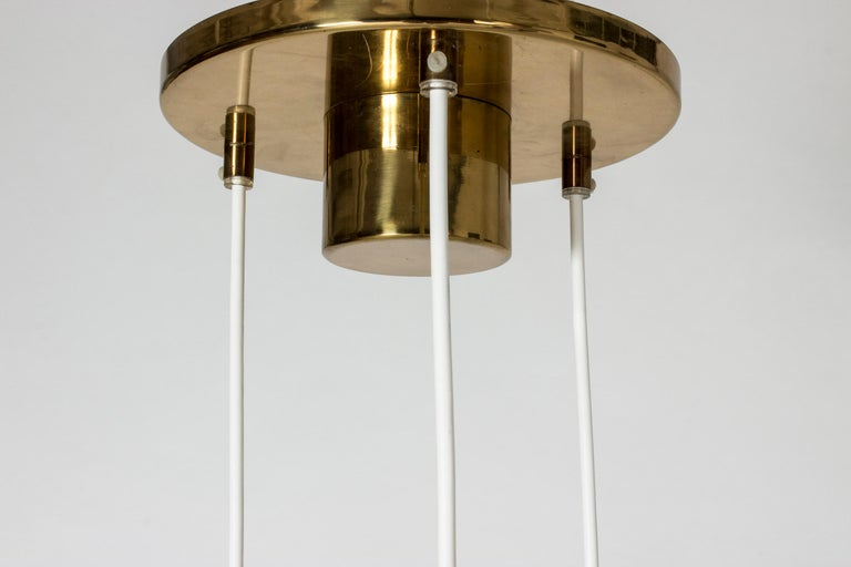 Brass Glass Pendant Lamp by Hans-Agne Jakobsson For Sale