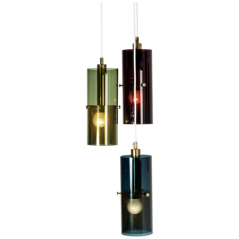 Glass Pendant Lamp by Hans-Agne Jakobsson For Sale