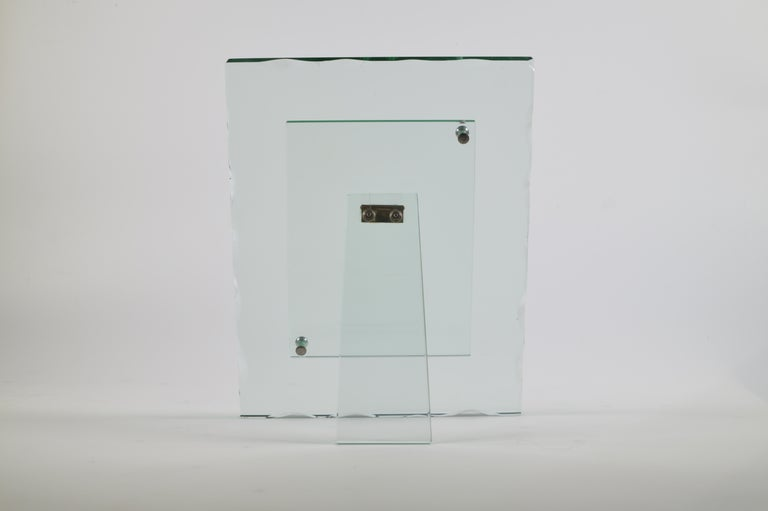 Fontana Arte 1940s Glass Photo Frame  In Good Condition In London, GB