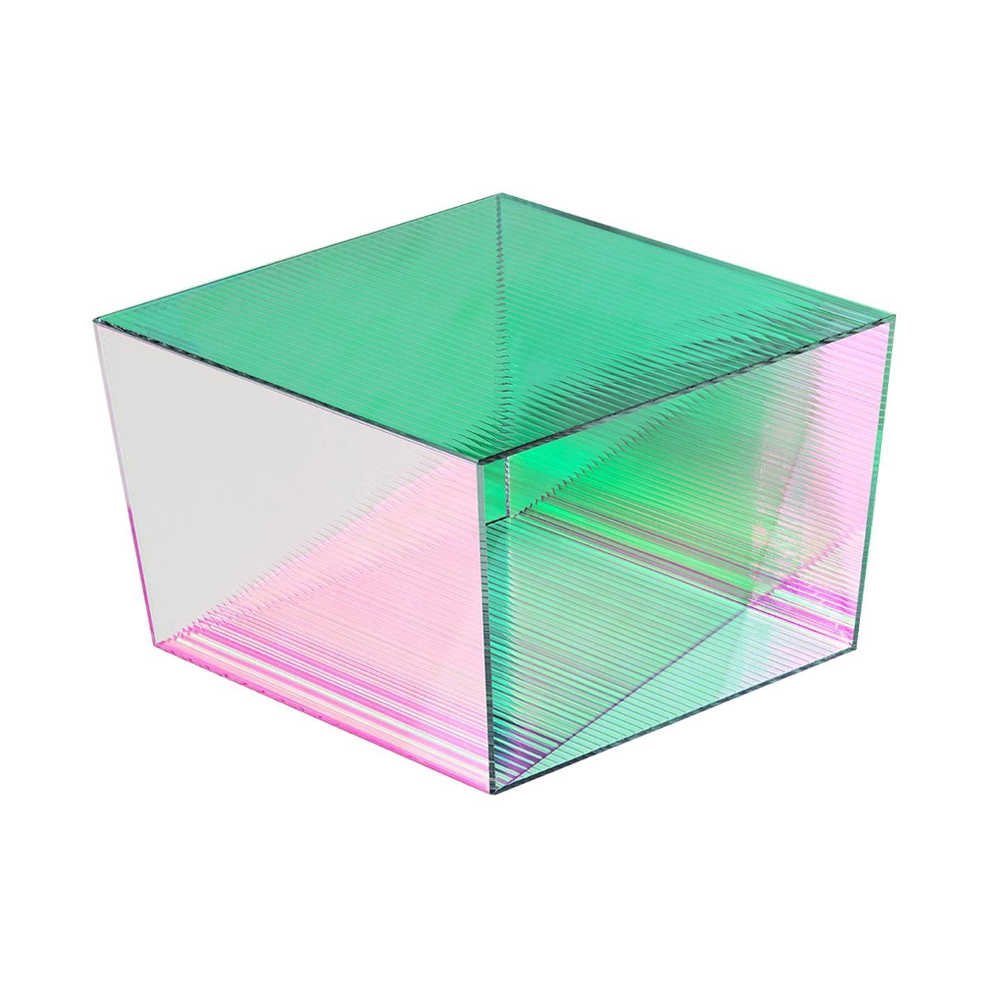 "Glass ""Rho Square 35"" Coffee Table, Sebastian Scherer"