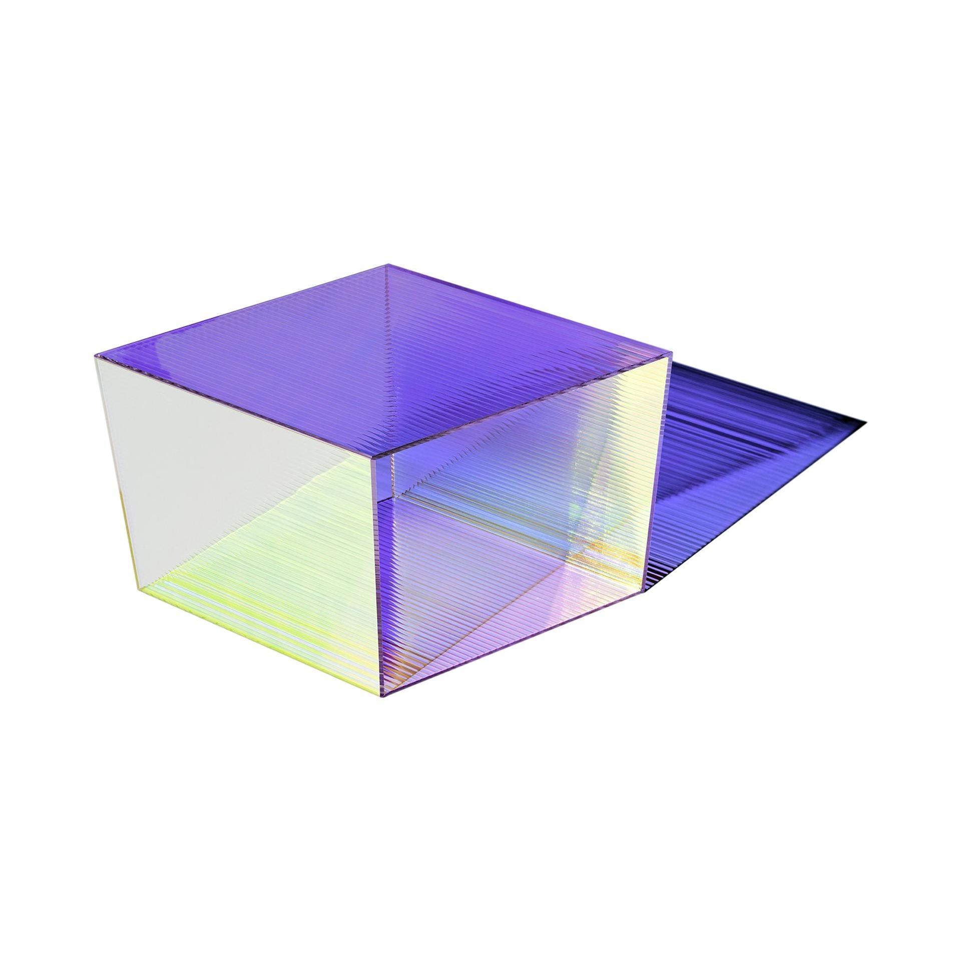 "Glass ""Rho Square 40"" Coffee Table, Sebastian Scherer"