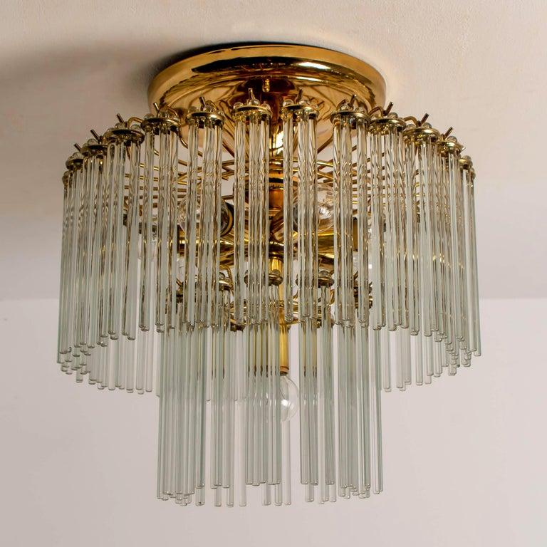 Glass Rod Waterfall Flush Mount Sciolari for Lightolier, 1970 For Sale 9