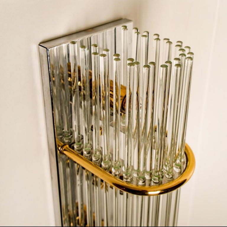 Glass Rod Waterfall Flush Mount Sciolari for Lightolier, 1970 For Sale 12