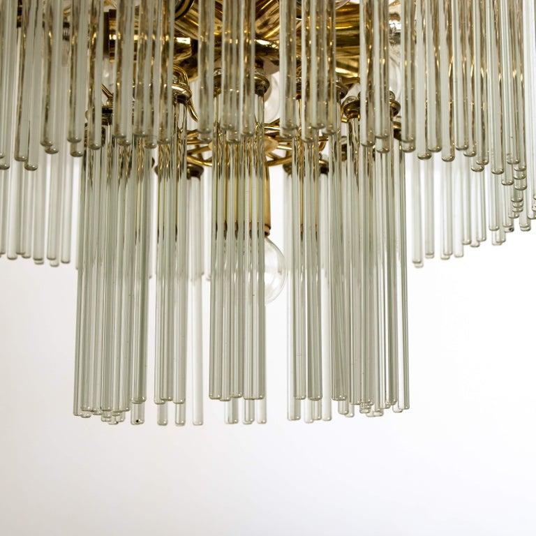 20th Century Glass Rod Waterfall Flush Mount Sciolari for Lightolier, 1970 For Sale