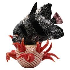 Glass Sculpture Fish by Pino Signoretto, Murano, Italy