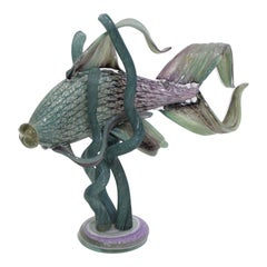 Glass Sculpture of an Exotic Fish