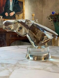 Glass Sculpture of Horse Head