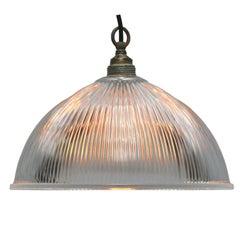Glass Shade Industrial Holophane Glass Hanging Lights Pendants